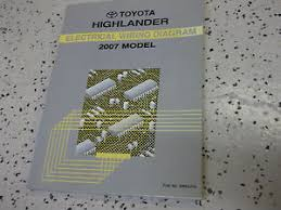 2007 toyota highlander electrical wiring diagram service shop repair image is loading 2007 toyota highlander electrical wiring diagram service shop