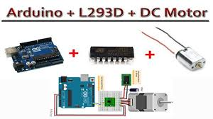control a dc motor using arduino with l293d easy explain in hindi