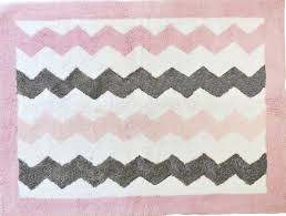 pink and gray chevron rug