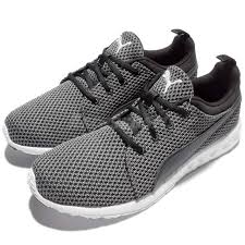 puma carson running shoes. puma carson knitted black white mens running shoes trainers 189685-01