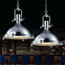 searchlight industrial 1 light vintage chrome pendant metal led lamp fitting bar effect