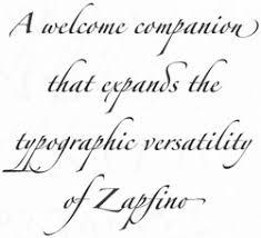forte font linotype font families zapfino