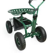 off on garden cart rolling work seat