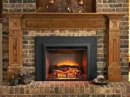 home depot electric fireplace inserts log