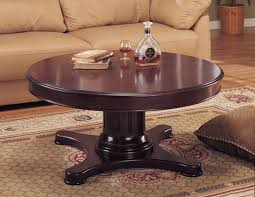 white round pedestal coffee table