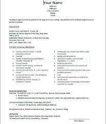nurse resume sample no experience new grad template graduate job examples  nursing templates resu