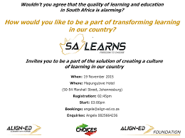 sa learns events we invite you to be a part of a select group of people who are committed to the development of an engaged citizenship and work force that is positively