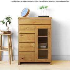 width 60 cm section of oak materials using oak solid wood natural wood glass doors movable shelf simple modern design side cabinet sideboard chest ornament