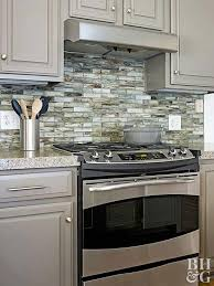 Black Granite Countertops With Tile Backsplash Amazing Kitchen Backsplash Ideas Better Homes Gardens