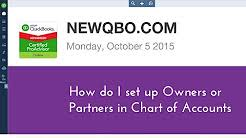 Partnership Equity Chart Of Accounts Partnership Equity Accounts Youtube