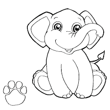 Elephants Coloring Pages Elephant Coloring Page Coloring Page Cute