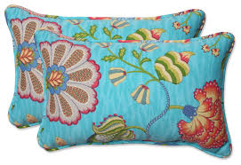 Arabella Caribbean Blue Oversized Rect Throw Pillow Set of 2