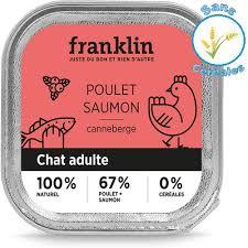 Avis Franklin poulet saumon Canneberge pâtée chat