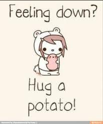 cute potato wallpaper. Perfect Wallpaper I Kawaii Potato Feeling Down Hug A In Cute Potato Wallpaper Y