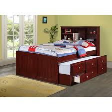 kids full size beds with storage.  Storage Donco Kids Bookcase Captains Trundle Bed With Storage In Dark Cappuccino Inside Full Size Beds With R