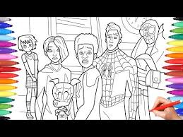 Terdapat banyak pilihan penyedia file pada halaman tersebut. Spider Man Into The Spider Verse Coloring Pages How To Draw All Spiderverse Characters Vtomb