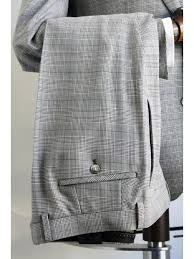 Remus Uomo Size Chart Remus Uomo Lavino Grey Prince Of Wales Check Trousers