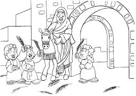 Small Picture Palm Sunday Coloring Page Coloring Pages