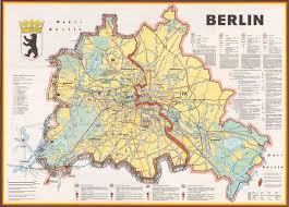 berlin a cold war map showing the berlin wall as a bricked up Berlin Sites Map berlin a cold war map showing the berlin wall as a bricked up barrier and barbed wire surrounding west berlin, 1963 berlin wall, cold war and history berlin tourist sites map