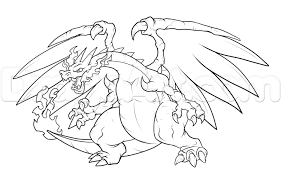 pokemon coloring pages mega charizard y to print