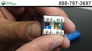 the trench how to terminate cat6a keystone jacks video and pictures step 3 each cat6a jack has the 568a and 568b wiring diagram chart on it we will be using the most commonly used 568b wiring diagram