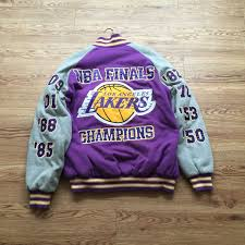 Nike minnesota timberwolves warm up suit jacket + pants blue rare new (size xlt). Los Angeles Lakers Nba Finals Champions Jacket Champion Jacket Jackets Los Angeles Lakers