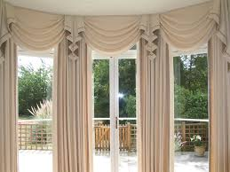 Swag Curtains For Living Room Large Bay Window Curtains Fishtail