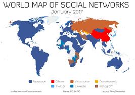 World Map of Social Networks | Vincos Blog