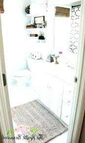 rustic bathroom rugs rug ideas photo 4 of 9 guest makeover reveal the star