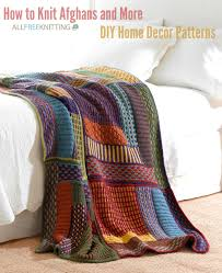 Knitted Afghan Patterns Awesome How To Knit Afghans And More 48 DIY Home Decor Patterns