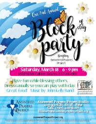 Block Party Flyer 2017ayp Block Party Flyer Answered Prayers Project