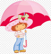 strawberry shortcake desktop wallpaper drawing umbrella