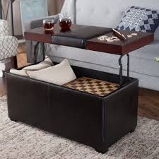 Brown Leather Ottoman Coffee Table With Storage Blue Leather Ottoman Coffee  Table