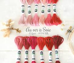 Soie D Alger Colour Chart Silk Thread Coral Color Thread French Dalger Red Floss
