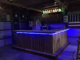 Bar Made Out Of Pallets Diy Bar Made Out Of Pallets With Lights Diy Woman Cave