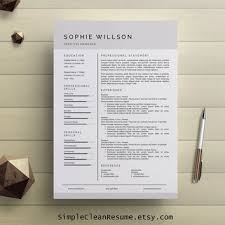 Modern Simple Resume Template Simple Resume Template Clean Cv Design From Simplecleanresume On