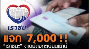 """เราชนะ""""แจก 7,000 !! ดีเดย์ลงทะเบียนเช้านี้ l TNN News ข่าวเช้า วันศุกร์ที่  29 มกราคม 2564 - YouTube"""