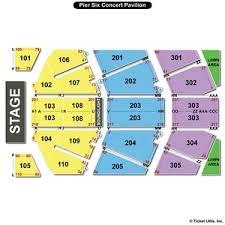 Pier 6 Pavilion Seating Chart 74 Punctual Pier Six Pavilion Seating View
