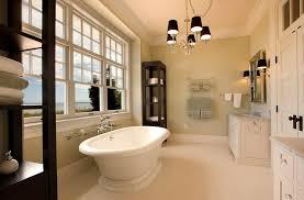black chandelier for marble designed bathroom
