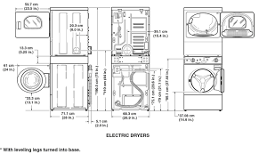 Washer And Dryer Dimensions Front Loading Furniture Sketch Of Stackable Washer And Dryer
