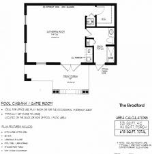 Pool House Plans  Pool Cabana With Outdoor Kitchen  035P0001 At Pool House Floor Plans