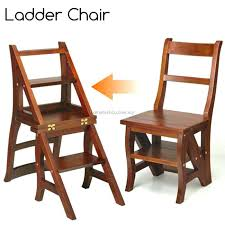 library chair step ladder chair solid wood folding step stool chair library step chair oak library