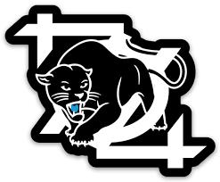 704 Shop Panther Logo Sticker