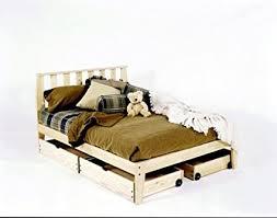 unfinished bed frame.  Bed King Size  Mission Platform Bed Frame Unfinished Chemical Free Pine  Made In For Unfinished T