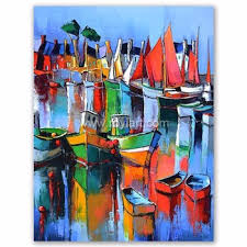 modern abstract wall art sail boat canvas oil painting for hotel decoration on boat canvas wall art with modern abstract wall art sail boat canvas oil painting for hotel