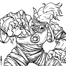 Lego Zombie Coloring Pages Scary Zombies Coloring Page Auto