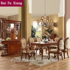 federal style sectional dining table with fabric chairs for dining room sets aa 233