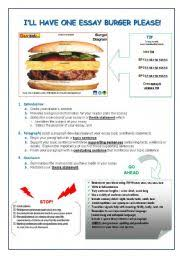 worksheet essay burger english worksheet essay burger