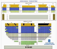 Arcadia Theater Seating Chart Arcada Theater Seating Chart Luxury Seven Angels Theater