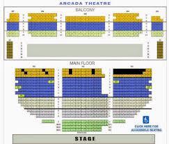 Arcada Theater Seating Chart New Kalamazoo State Theatre